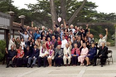crowd, wedding guests, Chinese American, San Francisco, California, group portrait
