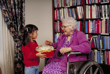 Asian American, kindness, girl, nursing home, senior, cookies, Oakland, California, wheelchair, 0_ NEW IMAGES _0