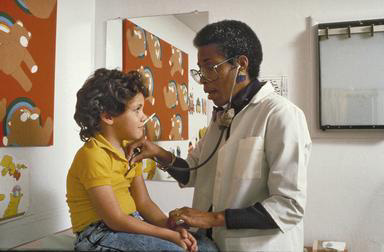pediatrician, African American, medical, health, thermometer, temperature, examination, doctor, patient, 0_ NEW IMAGES _0