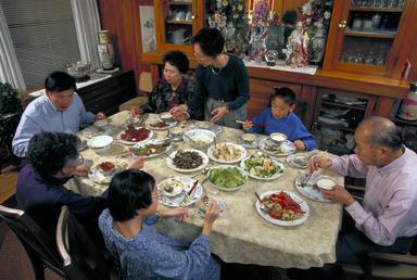 Chinese American, dinner, Asian American, Piedmont, California, extended family, 0_ NEW IMAGES _0