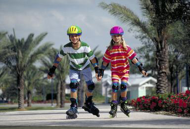 siblings, rollerblade, in-line skates, safety equipment, San Diego, California, 0_ NEW IMAGES _0
