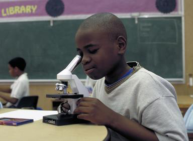 African American, microscope, science, elementary school, Oakland, California, class.education, student, 0_ NEW IMAGES _0