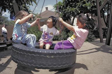 preschoolers, tireswing, playing, daycare, Oakland, California, fun, laughing, 0_ NEW IMAGES _0