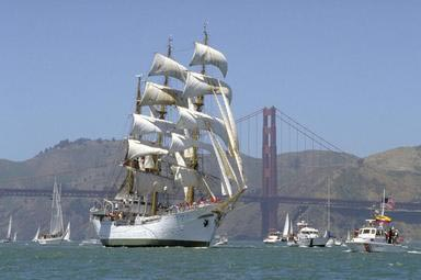 Fleet Week, parade, tall ships, sails, San Francisco, California