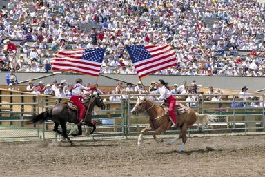 rodeo, flag, Salinas, California, patriotism