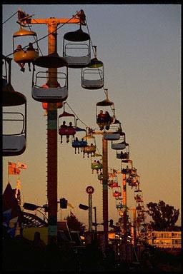 boardwalk, California, fun, ride